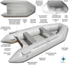 China Factory Pro Marine North Pak Inflatable Boat And Boat Accessories
