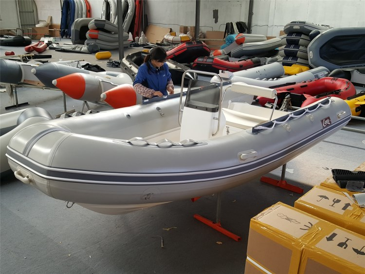 PVC RIB 520 Fiberglass Rowing Fishing Yacht Inflatable Boat